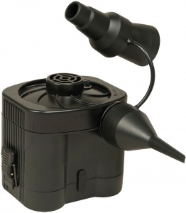 Happy People air pump with attachments 12V/battery black