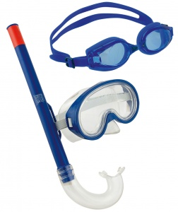 Happy People snorkelset 3-in-1 junior blauw 3-delig