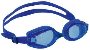 Happy People zwembril Goggles junior anti-fog 15 cm blauw