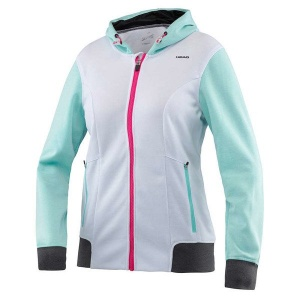 Head tennis jacket Vision cc ladies white / turquoise