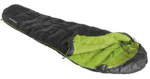 High Peak sleeping bag Black Arrow polyester 220 x 80 cm black/green