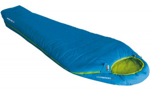 High Peak sleeping bag Hyperion 1M nylon 210 x 50/80 cm blue/green