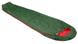 High Peak sleeping bag Pak 1000 polyester 220 x 50/80 cm green/red