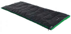 High Peak sleeping bag Patrouille polyester 190 x 80 cm black/green
