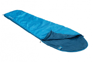 High Peak sleeping bag Pak 600 polyester 210 x 50/75 cm green/red