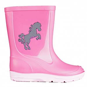 HORKA girls' rain boots PVC pink/light pink