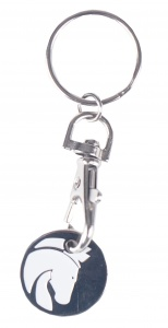 HORKA key ring with shopping cart coin 7 x 2 cm