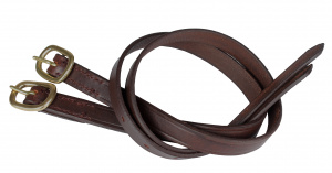 HORKA spur straps leather 45 cm brown 2 pieces