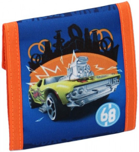 Hot Wheels wallet boys 10,5 x 9 cm polyester blue/orange