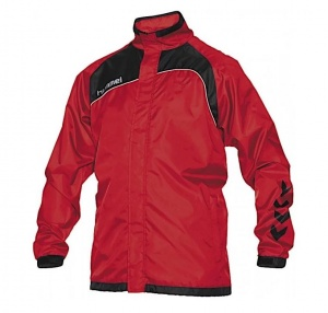 Hummel sports jacket Copenhagen windproof/water-repellent red/black