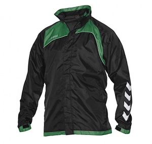 Hummel sports jacket Copenhagen windproof/water-repellent black/green