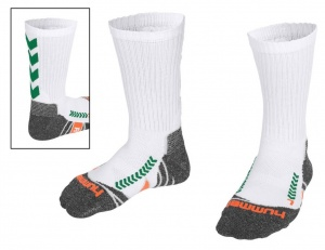 Hummel sports socks Chevron Sockwhite/green