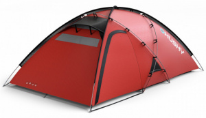 Husky tent Felen polyester 330 x 165 cm rood 3-persoons