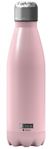 I-Drink thermos flask 750 ml stainless steel light pink