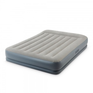 Intex airbed Queen 203 x 152 x 30 cm with pump gray