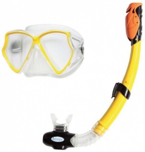Intex Snorkelset Aviator Pro Swim set 2-delig junior geel