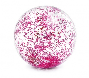 Intex strandball Glitter71 cm transparent lila