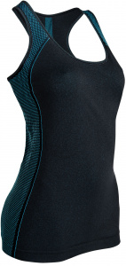 Intimidea sporttop Active-Fit dames polyester zwart