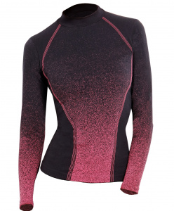 Iron-IC thermoshirt ladies polyamide black/pink