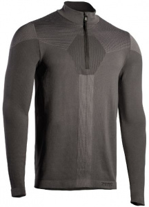 Iron-IC thermoshirt Fusion demi zip hommes polyamide gris