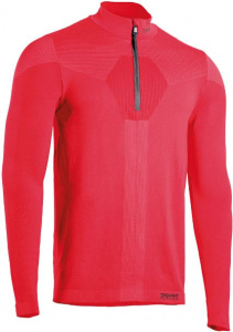 Iron-IC thermoshirt Fusion demi-zip hommes polyamide rouge