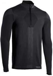 Iron-IC thermoshirt Fusion demi-zip hommes polyamide noir