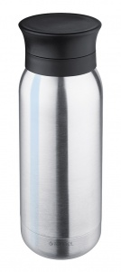 Isosteel Stainless steel sports bottle 0,35 liter silver