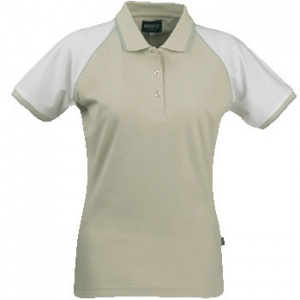 James Harvest Polo Shelby Pique Dames Beige/Wit