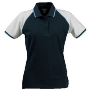 James Harvest Polo Shelby Pique Dames Donker Blauw/Wit