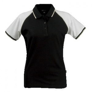 James Harvest Polo Shelby Pique Dames Zwart/Wit