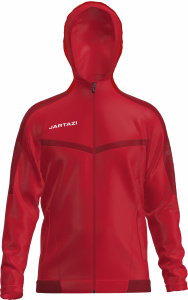 Jartazi sportjacket Torino Hooded unisexe rouge