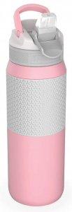 Kambukka drinking bottle Lagoon Insulated 750 ml stainless steel pink/grey