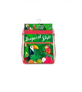 Kids Licensing sac de sport Tropical Style Toucan junior 42 x 40 cm polyester vert