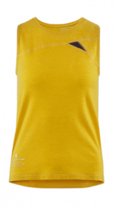 Klättermusen tank top Fafne ladies tencel/merino wool yellow