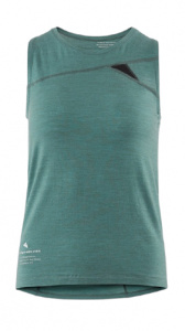 Klättermusen tank top Fafne ladies tencel/merinowol green