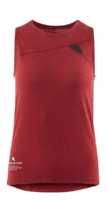 Klättermusen tank top Fafne ladies tencel/merinowol red