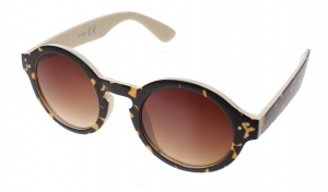 Kost sunglasses unisex black / yellow with brown lens (16-169A)