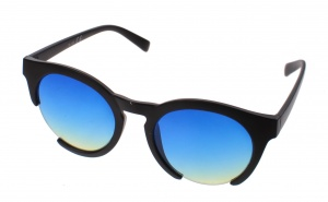 Kost sunglasses unisex black with blue lens (16-155)