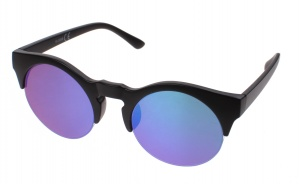Kost sunglasses unisex black with blue-green lens (16-008B)