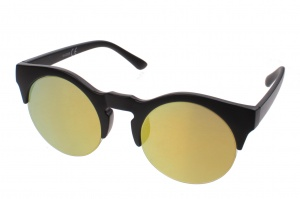 Kost sunglasses unisex black with yellow lens (16-008B)