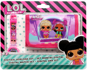 L.O.L. Surprise watch & wallet girls 10 cm pink 2-piece