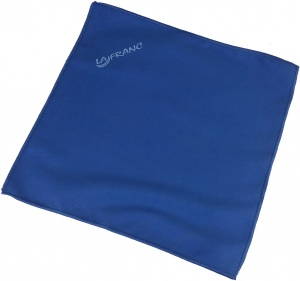 La Franc cleaning cloth for jeu-de-boules balls 30 x 30 cm blue