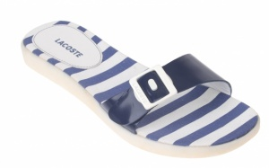 Lacoste Dames Slippers Noni Blauw/Wit