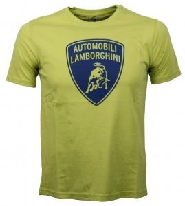f0964e417 Lamborghini T-shirt Shield Print lime   navy men