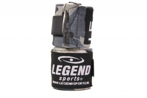 Legend Sports punching bandages Premium 455 cm camo grey per 2 pieces