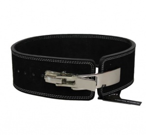 Legend Sports Powerlifting fitness riem lever zwart suede leer