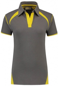 Lemon & Soda polo Premium dames grijs