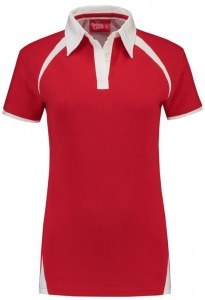 Lemon & Soda polo Premium dames rood