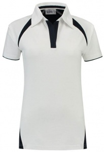 Lemon & Soda polo Premium dames wit
