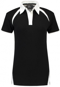 Lemon & Soda polo Premium dames zwart